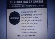 Se vende razÓn social de fundaciÓn con 28 aÑos