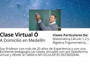 Clases virtuales : Álgebra,matemÁticas y cÁlculo.