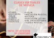 Clases virtuales personalizadas de musica