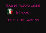 Clase de italiano online.