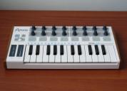 Arturia minilab controlador midi usb 2 octavas