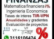Clases de matematica financiera a domicilio.