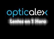 Lentes  en 1 hora en bogotá - óptica opticalex