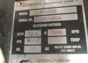 Bomba triplex general pump inc.