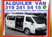 ⭐ viaje expreso, alquiler vans, van, con conductor