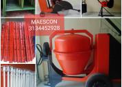 Mezcladora de cemento, pluma grua en venta
