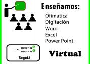 Clases virtuales excel, word, power point, todo el país.