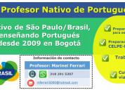 Profesor de portugués con nativo