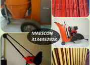 Pluma grua, mezcladora o concretadora