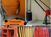 Plumas grua, concretadora, mezcladoras de cemento