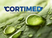 Cortinas antifluidos, antiflama