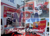Servicio carrovalla y eventos btl