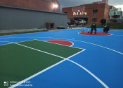 Revestimiento para canchas multiples