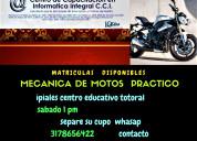 Tecnico mecanica de motos certificado