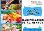 Curso virtual de manipulacion de alimentos