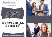 Curso virtual de servicio al cliente