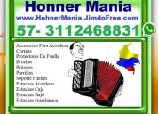 ⭐ hohner mania, accesorios para acordeon, estuches