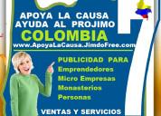 Apoya la causa, ayuda al projimo colombia, hacem