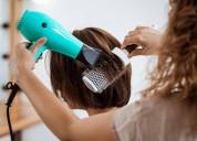 Cepillado de cabellos a domicilio