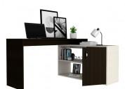 Vendo escritorio en l axis color wengue - marfil