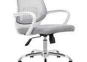 2 sillas de oficina blanca ergonómica