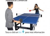 Mesa de ping pong tamaño comercial (todo incluido)