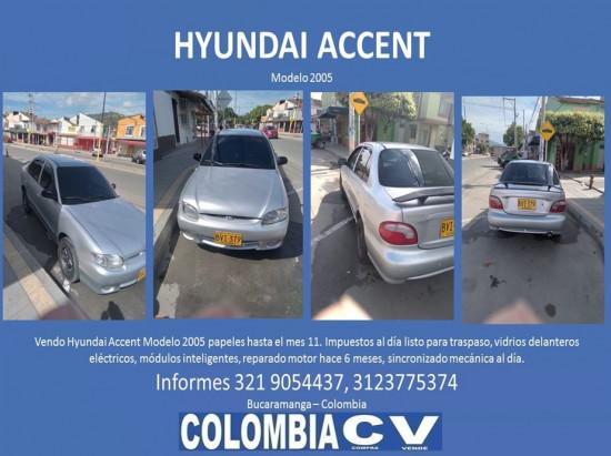 vendo hyundai accent modelo 2005
