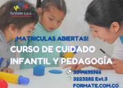 Curso de cuidado infantil y pedagogía