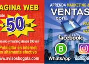 Paginas web desde 50mil hosting y dominio100mil